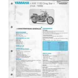 YAMAHA XVS 1100 de 1999 (Fiche RMT)