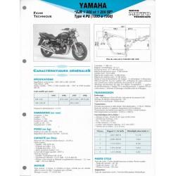 YAMAHA XJR 1200 et 1200 SP de 1995 à 1998 (Fiche RMT)