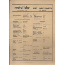 AMF HARLEY-DAVIDSON SS 125 de 1975 et plus