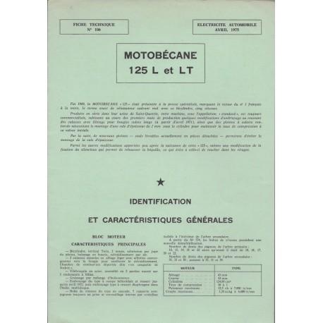 MOTOBECANE 125 L et LTde 1971 et plus