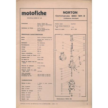 NORTON COMMANDO 850 MK 3 de 1974 et plus