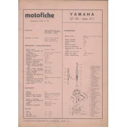 YAMAHA GT 80 type 477 de 1975 et plus