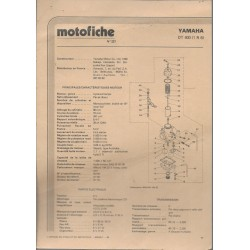 YAMAHA DT 400 type 1R6 de 1977 et plus