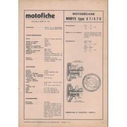 MOTOBECANE MOBYX X 7 / X 7 V de 1974 et plus