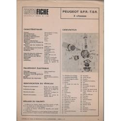 PEUGEOT SPR - TSR 3 vitesses de 1973 et plus