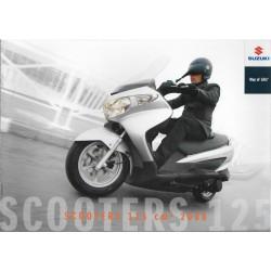 SUZUKI Catalogue Gamme Scooters 125 cc de 2008
