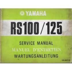 YAMAHA RS 100 / RS 125 Modèle 1975