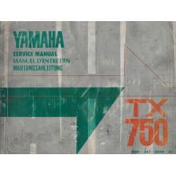 YAMAHA TX 750 (manuel atelier de base 04 / 1973)
