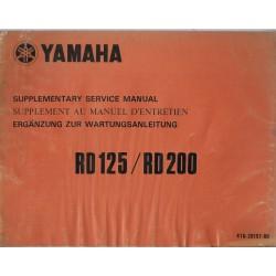 YAMAHA RD 125 / RD 200 modèle 1975 (suppl 12 / 1974)
