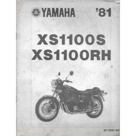 Notice d'assemblage YAMAHA XS 1100 S de 1981 type 5K7