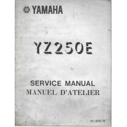 Manuel atelier YAMAHA YZ 250E (12 / 1977) type 2K7