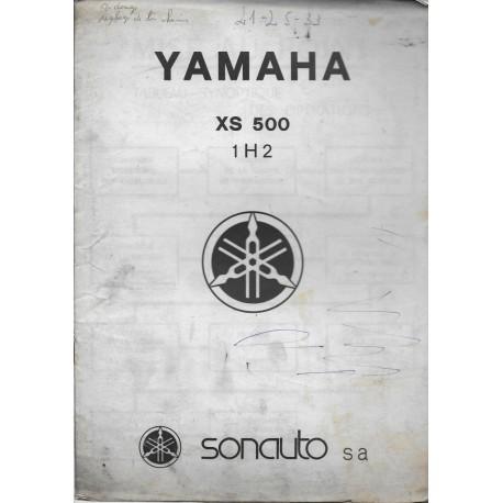 Informatin technique des YAMAHA XS 500 type 1H2