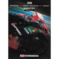 Prospectus YOSHIMURA racing SUZUKI GSXR de 2008