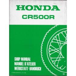HONDA CR 500 R 1987 (Additif manuel de base) Type KA5 (11/85) G
