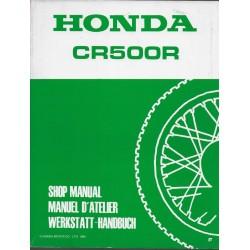 HONDA CR 500 R 1987 (manuel de base) Type KA5 (11/85) F