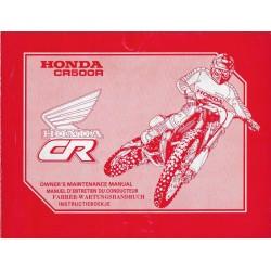 HONDA CR 500 R 1990 (manuel de base) Type ML3 (07/89)