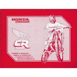 HONDA CR 500 R 1991 (manuel de base) Type ML3 (09/90)