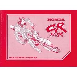 HONDA CR 500 R 1999 (manuel de base) Type MAC