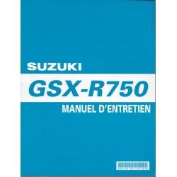 Manuel atelier SUZUKI GSX-R 750 K8 de 2008 (03 / 2008)