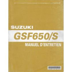 Manuel atelier SUZUKI GSF 650 K5 de 2005 (11 / 2004)
