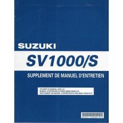 Manuel atelier additif SUZUKI SV 1000 K5 / SK5 (12 / 2004)