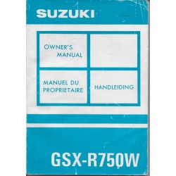 SUZUKI GSX-R 750 WP modèle 1993 (07 / 1992)