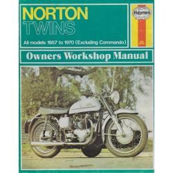 Manuel atelier Twins NORTON de 1957 à 1970