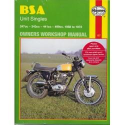 Manuel atelier Monos BSA de 1958 à 1972