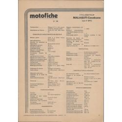 MALAGUTI Cavalcone 4 MRC / 6 MRC de 1976 et plus