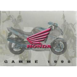 Catalogue Gamme HONDA Motos de 1998