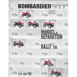 BOMBARDIER Quad RALLY mc 200 de 2005 (en français)