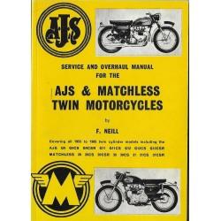 Manuel atelier AJS & MATCHLESS Twins de 1955 à 1965