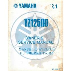 Manuel atelier YAMAHA YZ 125 H 1981