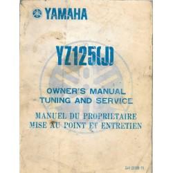 Manuel atelier YAMAHA YZ 125 J 1982