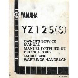 Manuel atelier YAMAHA YZ 125 S 1986
