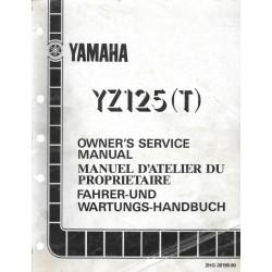 Manuel atelier YAMAHA YZ 125 T 1987