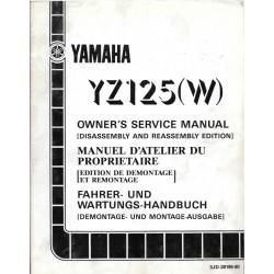 Manuel atelier YAMAHA YZ 125 W 1989