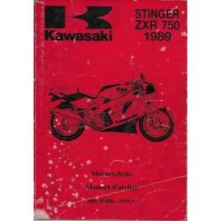 Manuel atelier KAWASAKI STINGER ZXR 750 H1 (1989)