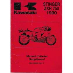 Manuel atelier KAWASAKI STINGER ZXR 750 H2 (1990)