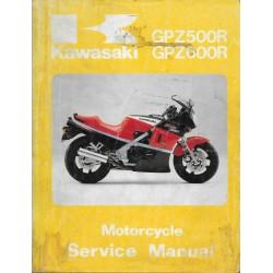 Manuel atelier KAWASAKI GPZ 600 R (10 / 1987)
