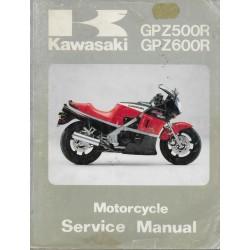 Manuel atelier KAWASAKI GPZ 600 R (07 / 1992)