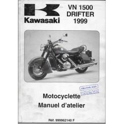 Manuel atelier KAWASAKI VN 1500 DRIFTER de 1999 (10/ 99)