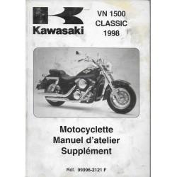 Manuel atelier additif KAWASAKI VN 1500 Classic de 1998