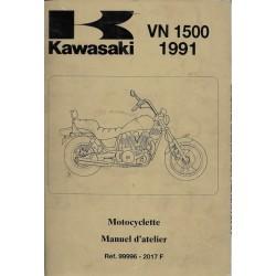 Manuel atelier KAWASAKI VN 1500 de 1988 à 1991