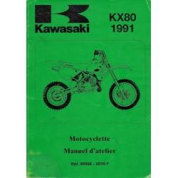 Manuel atelier KAWASAKI KX 80-S1 / V1 (1991)