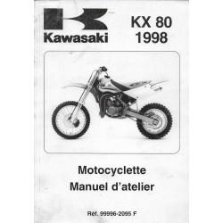 Manuel atelier KAWASAKI KX 80 W1-X1-Y1-Z1 (1998)