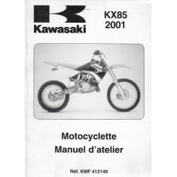 Manuel atelier KAWASAKI KX 85 A1 / KX 85-B1 (2001)