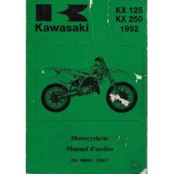 Manuel atelier KAWASAKI KX 125 / 250 de 1992