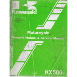 Manuel atelier KAWASAKI KX 500 de 1984 / 1985