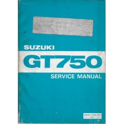 Manuel atelier SUZUKI GT 750 (07 / 1972) en anglais